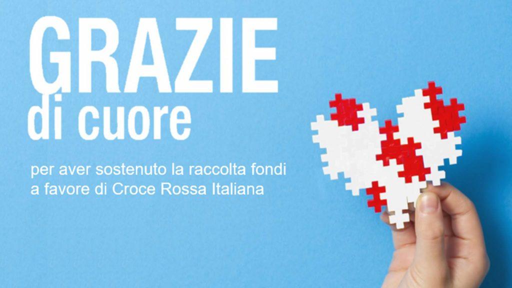 La raccolta fondi a favore di Croce Rossa Italiana si è conclusa con successo!